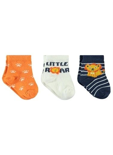 Civil Baby Civil Baby Erkek Bebek 3'lü Çorap Set 0-3 Ay Ekru Ekru
